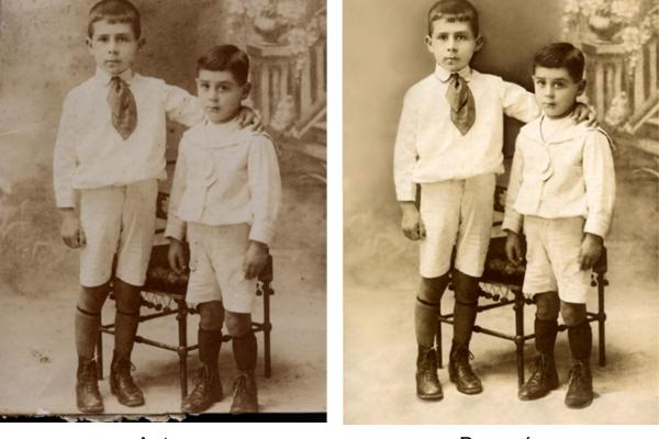 Restauración de fotos hermanos